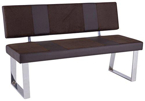 Reality Import R5122-28 Sitzbank, Lederimitat, dunkelbraun, 140 x 58 x 85 cm