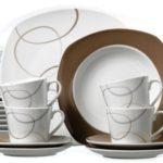 Ritzenhoff & Breker Kombiservice Alina Marron, 30-teilig, Porzellangeschirr
