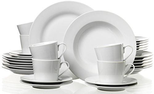 Ritzenhoff & Breker Kombiservice Bianco, 30-teilig, Porzellangeschirr