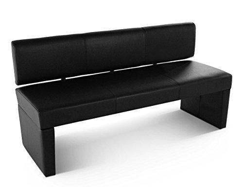 SAM Esszimmer Sitzbank 164 cm Sofia in schwarz, mit Rückenlehne aus Samolux-Bezug, angenehmer Sitzkomfort
