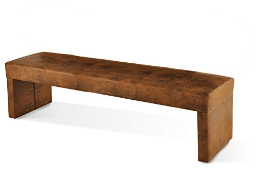 SAM® Esszimmer Sitzbank Roca in wildlederoptik Stoff Bank 200 cm schlicht pflegeleichte Oberfläche angenehmer Sitzkomfort