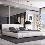 SAM Polsterbett 140x200 cm Leon, weiß, Bett mit gepolstertem, hohen Kopfteil, modernes Design