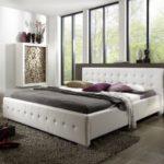 SAM Polsterbett 140x200 cm Rimini, Bett in weiß abgestepptes modernes Design, Wasserbett geeignet