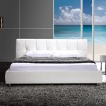 SAM Polsterbett 160x200 cm Zarah weiß, Chrom Füße, modernes Design, Kopfteil abgesteppt, als Wasserbett verwendbar