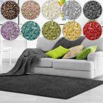 Shaggy Teppich Bali | weicher Hochflor Teppich für Wohnzimmer, Schlafzimmer und Kinderzimmer | mit GUT-Siegel | verschiedene Größen | viele moderne Farben (80 x 150 cm, anthrazit)