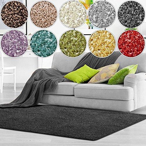 casa pura Shaggy Teppich Bali | weicher Hochflor Teppich für Wohnzimmer, Schlafzimmer und Kinderzimmer | mit GUT-Siegel…