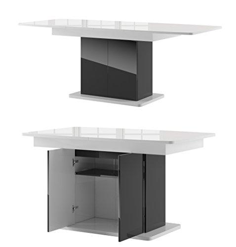 tisch star esstisch s ulentisch ausziehbar hochganz wei. Black Bedroom Furniture Sets. Home Design Ideas