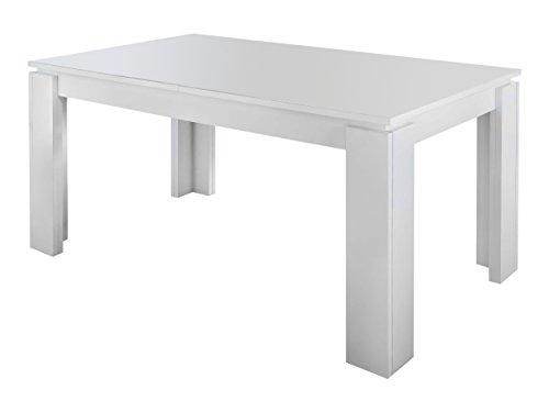 trendteam smart living Esszimmer Küchentisch, Esstisch Tisch Universal, 160 x 77 x 90 cm in Weiß mit Ausziehfunktion