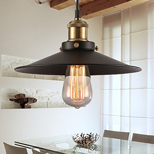 Makion Vintage-Pendelleuchte, Metall, black without bulb, E27 60.00W