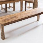 Wohnling Esszimmerbank Rustica 160 x 45 x 38 cm Mango Massiv-Holz | Design Landhaus Sitzbank | Holzbank für Esszimmer | Küchenbank 3-4 Personen