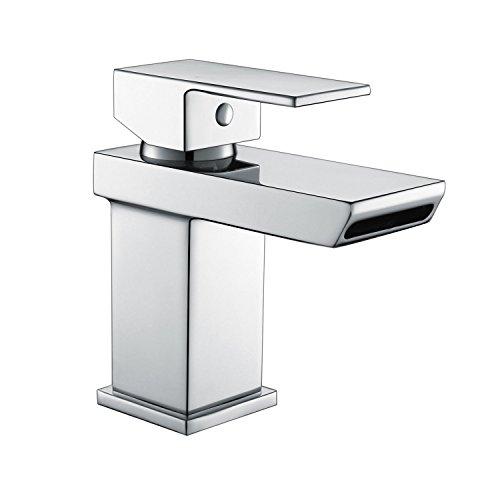 Waschtischarmatur Eckig Waschbecken Waschtisch Armatur Wasserhahn Einhebelmischer Mischbatterie Bad Waschbeckenarmatur…