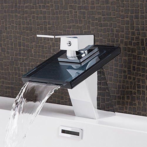 Wasserhahn New York Black Wasserfall Waschtisch Armatur Waschtischarmatur Waschbecken Waschbeckenarmatur Badezimmer…