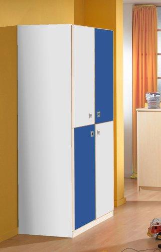 Wimex Jugendzimmer Kleiderschrank in alpinweiß - marineblau Schrank Kinderzimmer