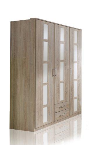 Wimex Kleiderschrank/ Drehtürenschrank Bambi, 3 Türen, 2 Schubladen, (B/H/T) 197 x 58 x 135 cm, Mehrfarbig