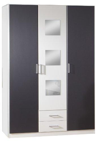 Wimex Kleiderschrank/ Drehtürenschrank Rocco, 3 Türen, (B/H/T) 135 x 197 x 58 cm, Mehrfarbig