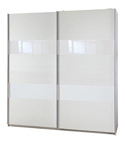Wimex Kleiderschrank/ Schwebetürenschrank Chess Glas, (B/H/T) 135 x 198 x 64 cm, Weiß