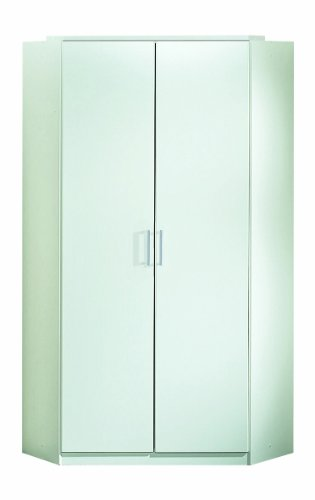 Wimex Kleiderschrank/ Eckschrank Click, 2 Türen, (B/H/T) 95 x 198 x 95 cm, Alpinweiß