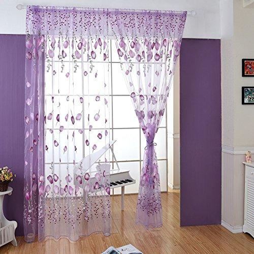 Wingogo Fenster Vorhang Roman Print Tulle Voile Vorhang Bestickt Sheer Für Küche Wohnzimmer Das Schlafzimmer Fenster…