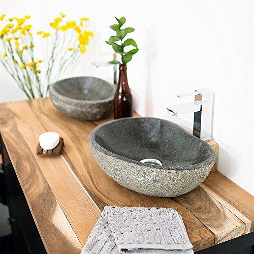 wohnfreuden Naturstein Waschbecken 30 cm oval mit Unikatauswahl nach dem Kauf aus der Bildergalerie