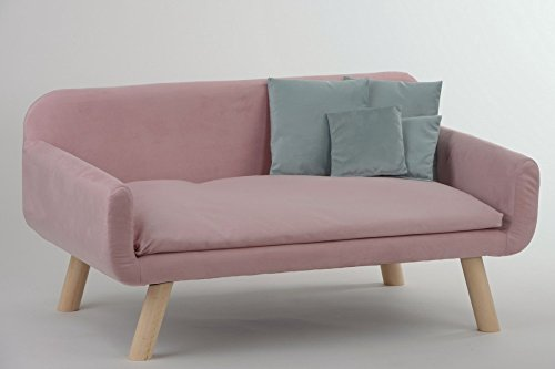 animal-design Hundesofa New mit Kissen Polstersofa Couch Hundebett Katzenbett Schlafplatz für Hunde und Katzen versch. Farben
