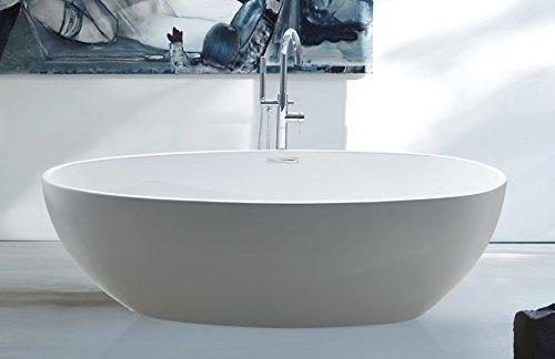 """perfect-spa Freistehende Badewanne""""Rom"""" Wanne inkl. Ab- und Überlauf Exclusive freistehende Badewanne Acrylwanne Wanne"""