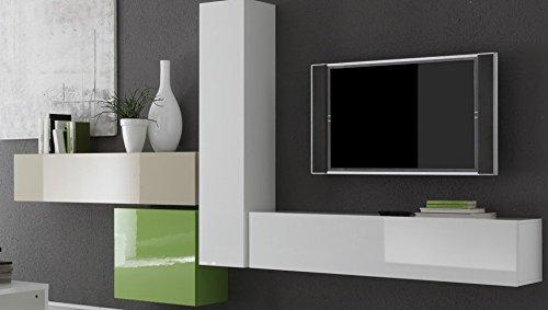 LC spa Hänge-Element 1-türig Box, 139 x 29 x 31 cm, weiß Hochglanz