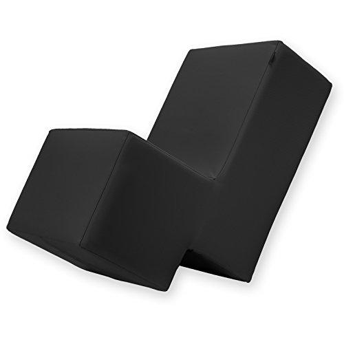 Laxxer Erlebnismöbel | hochwertiger Polstersessel/Polstersofa mit abnehmbaren Stoff-Bezug zum Sitzen, Spielen und Erleben | Loungemöbel/Spielmöbel für Kinder und Erwachsene | schwarz