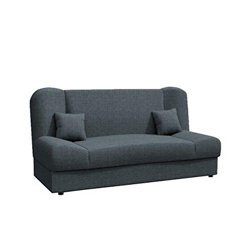 Schlafsofa Jonas, Sofa mit Bettkasten und Schlaffunktion, Bettsofa, Dauerschläfer-Sofa, Schlafcouch, Materialmix, Couch…
