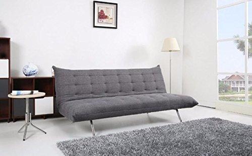 SEDEX Pedro Schlafcouch/Schlafsofa/Klappcouch mit Schlaffunktion Polyester grau