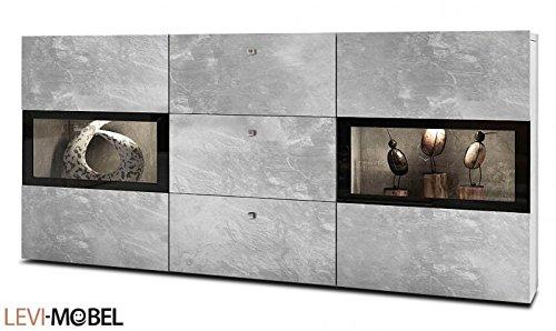 Generic Sideboard ANBAUWAND Wohnzimmer WOHNWAND Beton-Optik Matt Neu 420182