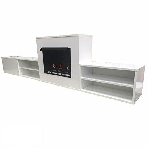 Kaminofen Ethanol & Gelkamin Sideboard modern 2,75m Limited Edition (weiß)