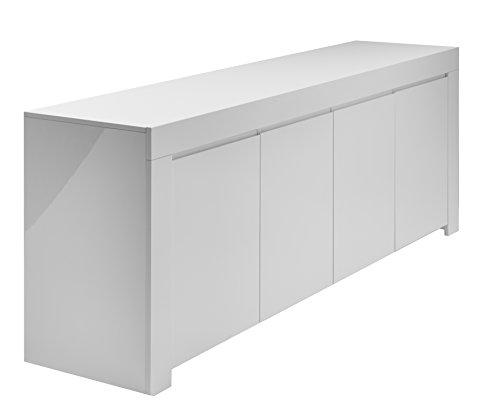 LC spa Sideboard Amalfi 4-türig, 210 x 84 x 50 cm, weiß Hochglanz