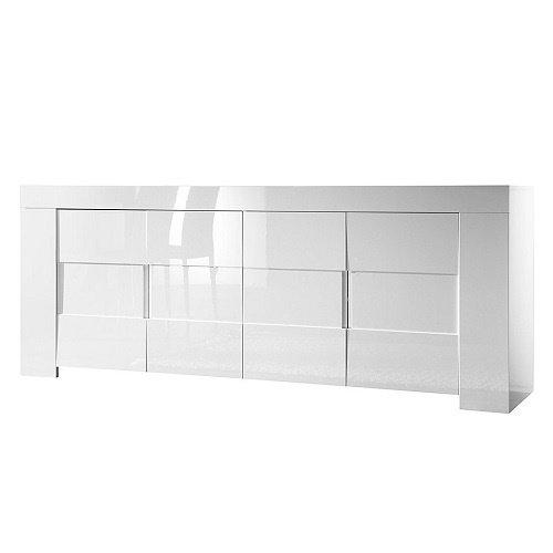 LC spa Sideboard EOS 4-türig, 210 x 84 x 50 cm, weiß Hochglanz