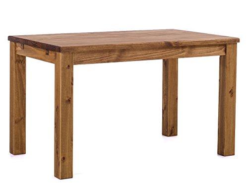 Brasilmöbel Esstisch Rio Classico 120x80 cm Brasil Massivholz Pinie Holz Esszimmertisch Echtholz Größe und Farbe wählbar ausziehbar vorgerichtet für Ansteckplatten