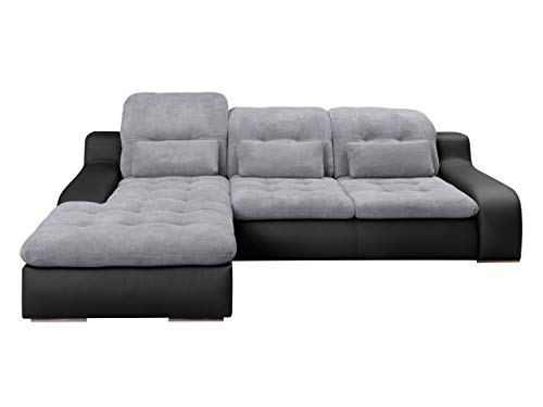 Ecksofa Bravero, Eckcouch mit Bettkasten und Schlaffunktion, Moderne Schlafsofa Polsterecke, Elegante L-Form Couch Couchgarnitur, Bettsofa, Wohnlandschaft (Ecksofa Links, Madryt 9100 + Dot 90)