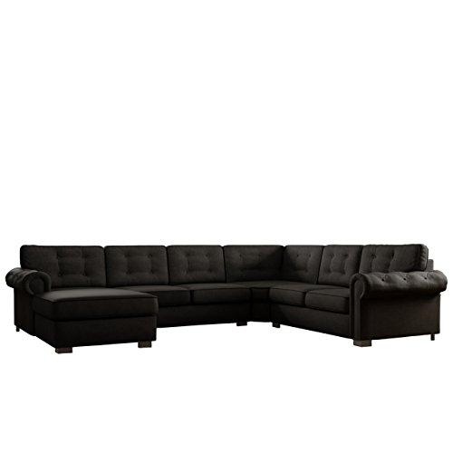 Mirjan24  Ecksofa Chesterfield Maxi, freistehendes Polsterecke Couch Sofa, Antik Look Couchgarnitur, Wohnlandschaft, Farbauswahl (Enzo 165, Ecksofa Links)