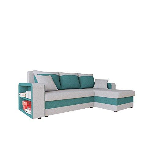 Ecksofa Fano Lux Design Eckcouch Couch! mit Zwei Bettkasten, Schlaffunktion, Farbauswahl, Bettfunktion! Wohnlandschaft! L-Form Sofa! Seite Universal! vom Hersteller! (Mexia 174 + Mexia 176)