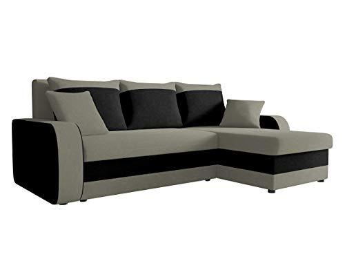 Ecksofa Kristofer, Design Eckcouch Couch! mit Schlaffunktion, Zwei Bettkasten, Farbauswahl, Wohnlandschaft! Bettfunktion! L-Form Sofa! Seite Universal! (Mikrofaza 0014 + Mikrofaza 0015)