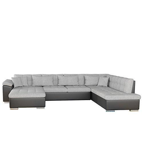 Mirjan24 Eckcouch Ecksofa Niko Bis! Design Sofa Couch! mit Schlaffunktion und Bettkasten! U-Sofa Große Farbauswahl! Wohnlandschaft vom Hersteller (Ecksofa Links, Soft 011 + Bristol 2460)