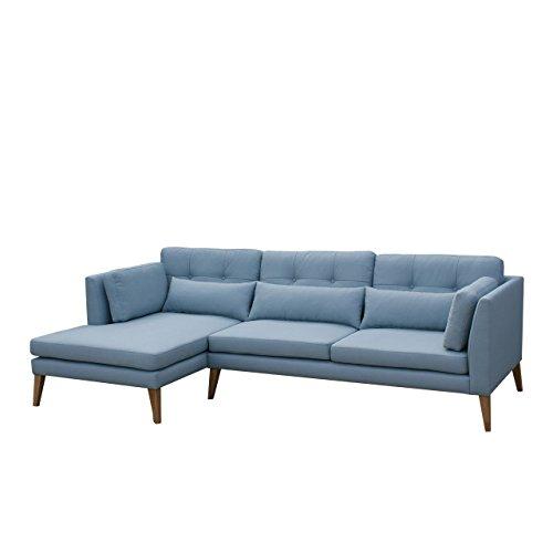 Ecksofa Pacyfic II Sofa Couch, Modernes Sofagarnitur, Couchgarnitur inkl. Kissen-Set, Lounge Eckcouch Polsterecke (Lux 29, Seite: Links)