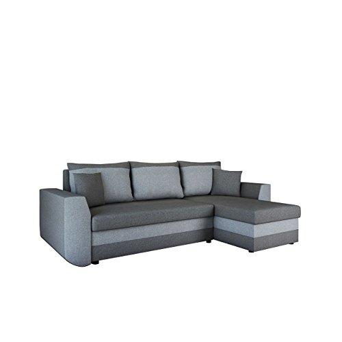 Ecksofa Sena Lux, Eckcouch mit Zwei Bettkasten, Couch L-Form Sofa, Farbauswahl, Schlaffunktion, Bettfunktion, Wohnlandschaft, Seite Universal, vom Hersteller (Mexia 178 + Mexia 174)