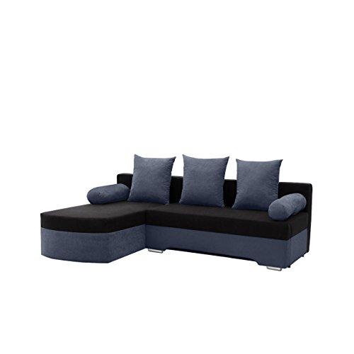 Mirjan24 Ecksofa Smart! Sofa Eckcouch Couch! mit Schlaffunktion und Bettkasten! Ottomane Universal, L-Form Couch Schlafsofa Bettsofa Farbauswahl (Alova 24 + Alova 04)