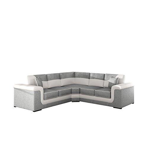 Ecksofa Symfonic 2+E+2, Stilechtes und geräumiges Ecksofa in L-Form mit bequemer Sitzfläche, Elegantes Polsterecke Eckcouch, Wohnlandschaft (Florida 01 + Soft 017)