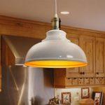 Elegante Weiß Modern Retro Loft Pendelleuchte Lampenschirm Stilvollen Simplicity Art Design