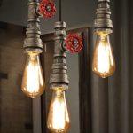Hahaemall Rohr Retro Vintage Deckenlampen Pendelleuchte Hängeleuchte Lampe Leuchte Metall