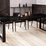Endo-Moebel Kufentisch Wenge Esstisch Cora ausziehbar 130cm - 210cm Küchentisch mit Kufen Design
