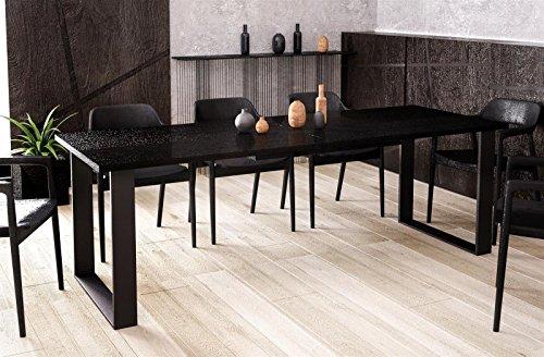 Kufentisch Wenge Esstisch Cora ausziehbar 130cm - 210cm Küchentisch mit Kufen Design