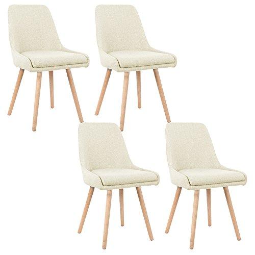 MCTECH® 4er Set Retro Esszimmerstühle Besucher-Stuhl Esszimmerstuhl Wohnzimmerstuhl Stuhlgruppe Konferenzstühle…