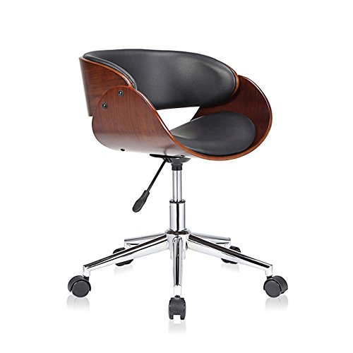 MY SIT Design Stuhl Retro Drehstuhl Bürostuhl Vintage Antik Kunstleder Drehhocker Wohnzimmerstuhl Esszimmerstuhl…