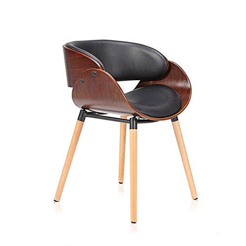 Makika Design Stuhl Retro Bürostuhl Vintage Hocker Kunstleder Wohnzimmerstuhl Esszimmerstuhl Küchenstuhl Sessel…